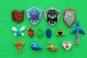 More Ocarina of Time Charms by Jadertott