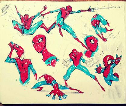 Spidey doodles 2. by COLOR-REAPER