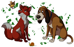 Todd and Copper by Velvet-Loz