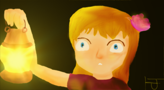 A girl holding lantern by leaderofbloodscourge