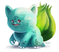 001-Bulbasaur by TsaoShin tiny face by YoshiRingo