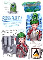 .: Subnautica: Jacksepticeye - Marker Sketches :. by AquaGD