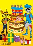 Happy Birthday, Zak. From Sly And Ratchet. by WarnerRepublic