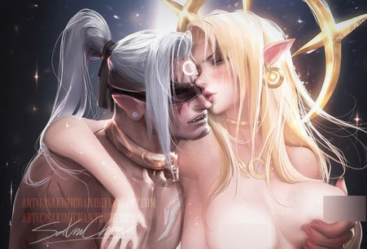 sun and moon .Hetero tag. by sakimichan