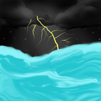 Sea Storm (Backround Practice) by LuckyDoggy