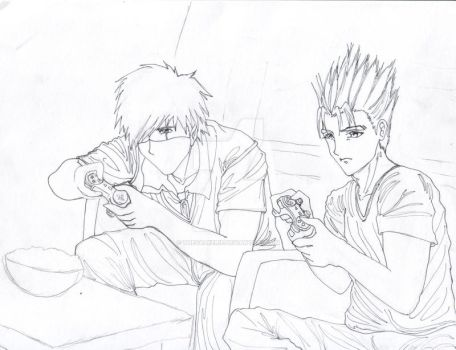 Vash and Kakashi by thevalkerie