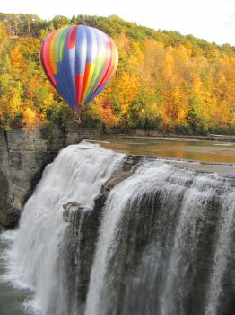Hot Air Balloon Over Letchworth by janelle2168
