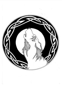 Celtic Wolf by peterfrancisfahy