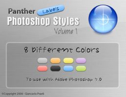 Panther Labels PS Styles by HybridRainbow2004