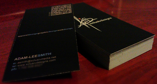 xclusivdesigns - business cards by Sukoshi81