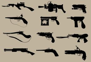 Silhouette- Guns by TypoCity