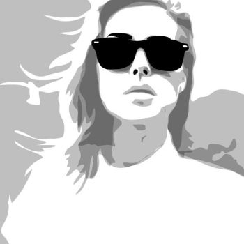 Vector portrait, only shadows by messtwice