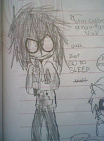 Jeff The Killer (Striped hair) by Menathehedgehog