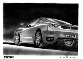 Ferrari F430 Pencil Portrait by Bobby-Sandhu