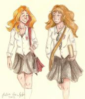Ginny and Hermione by Lumedin