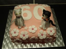 60 Cake and Cats by sparks1992
