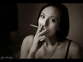 Magda with cigarette by fo0losophy