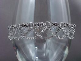 Swooping Chains Chainmail Byzantine Anklet by Pharewings