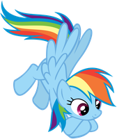 Hovering Rainbow Dash by CrusierPL