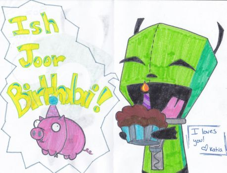 Gir Birthday Card by katia-kat