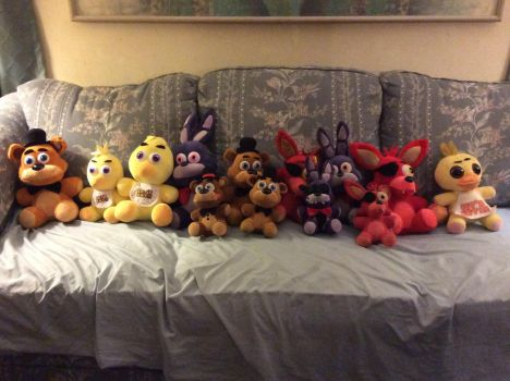 My Five Nights At Freddy's Plush Collection!! by AlvinMunk500