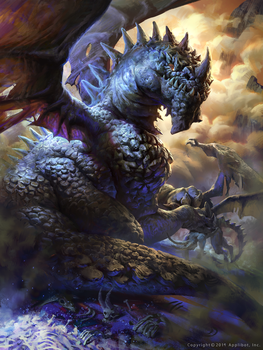 Sivan, the devil eating dragon by MikeAzevedo