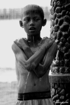 Beachside Shower by dhaninugraha