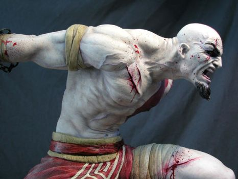 Kratos sculpt by MarkNewman