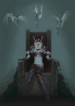Lady Sylvanas Windrunner, The Banshee Queen by Aladorra