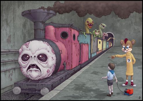 The Wrong Train by jflaxman