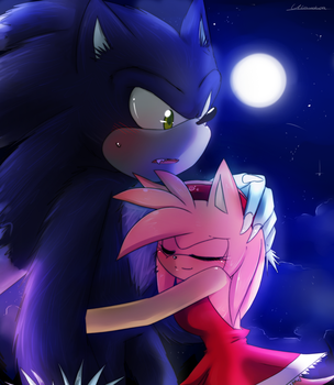 AT Hug the werehog by Klaudy-na