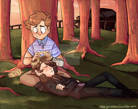Two (boy)friends on a perfect day by naeginopins