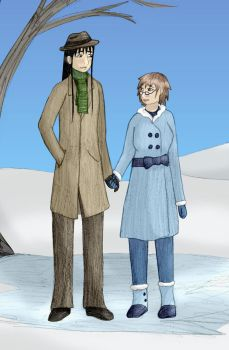 Tristan and Seiko Winter by usedbooks